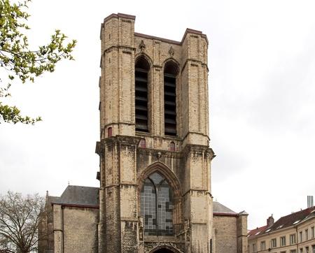 st michel: Ghent Belgium, Church St Michel Stock Photo