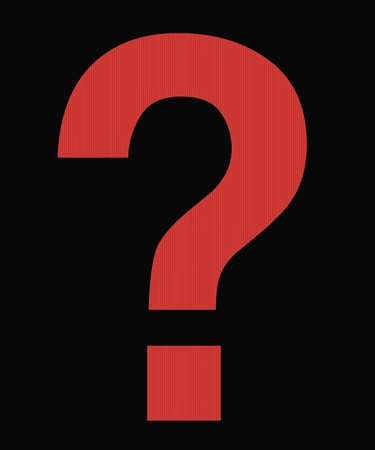 question mark red on black Stock Photo - 13741798
