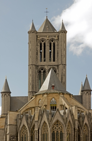 St Nicolas kościół gent Belgia Flandria Zdjęcie Seryjne - 13929064