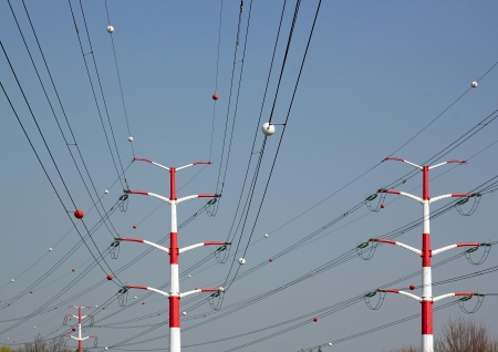 pylons and high voltage lines photo