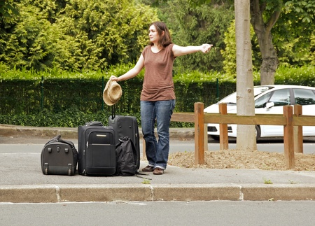 hitchhiker, going on holiday Stock Photo - 14414087