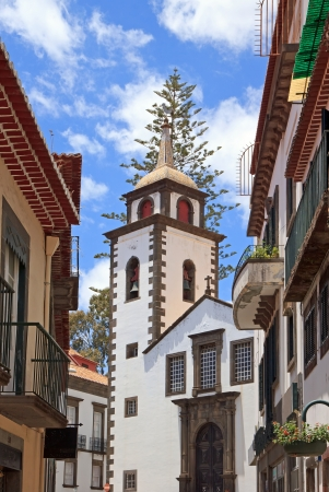 Santa Clara Church in Funchal, Street View  Madeira  Stock Photo