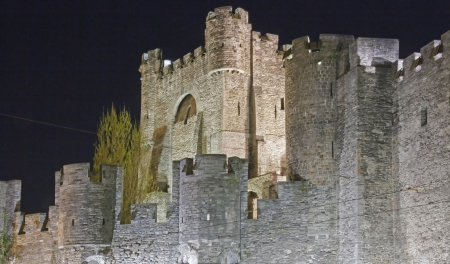 Castle of the Counts, the night  dated 1180   Genth Belgium Flanders