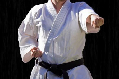 Judo rang du noir centure Banque d'images - 15249612