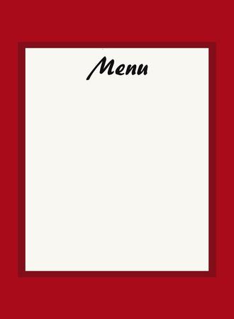 bordeau: menu for restaurant or snack-bar, color Bordeaux Stock Photo