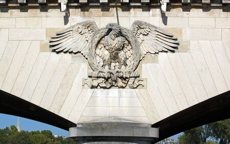 napoleon i: Imperial eagle of the bridge of Ièna  Paris France  Stock Photo