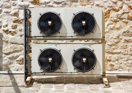 group of outer ventilators Stock Photo