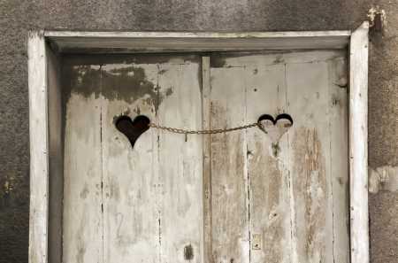 Door of the chained loves Stock Photo - 17214427