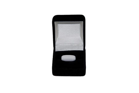 white tablet in a black case, a medicine as a jewel photo