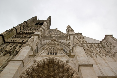 Cathedral St Etienne, Auxerre, gone up towards heavens  Burgundy France  Stock Photo
