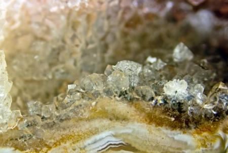 Inside of a stone, a quartz of rock