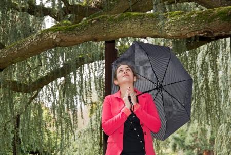 Prayer in the rain, if it rains   Stock Photo