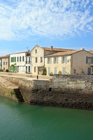 Saint Martin, a view of the port  Charente-Maritime France
