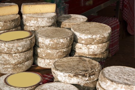 tomes: Cheese tomes des Bauges, french production  France   Stock Photo