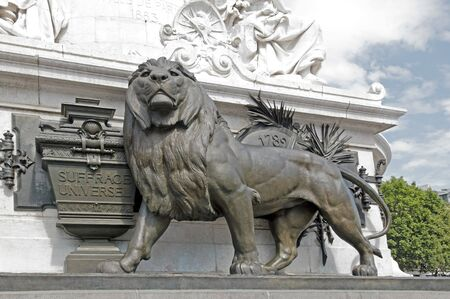 solidity: The lion and the universal suffrage   1848  , the Republic Paris  France  Stock Photo