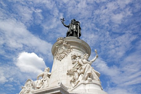 The French Republic, the statue of the republic  Paris France