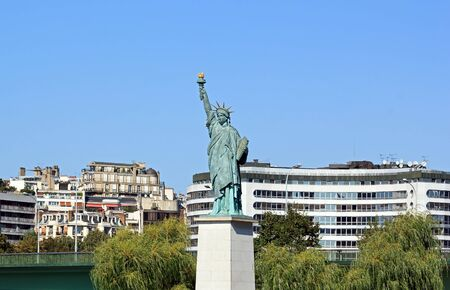 Statue of Liberty  Paris France , island of the swan photo