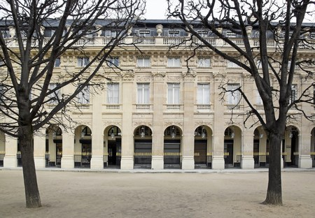 palais: Garden of the Palais Royal in winter  Paris France  Editorial