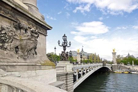 alexandre: Bridge Alexandre III, of the left bank to the Grand Palais  Paris France