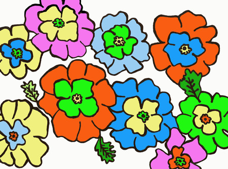 gaiety: Flowers colored of the spring