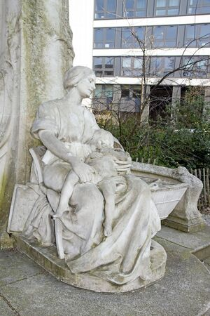 lullaby: statue of the Ptit Quinquin. Lille (northern France). Ptit Quinquin: traditional lullaby song from northern France Stock Photo