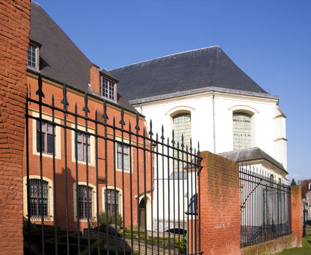 hospice: Hospice Comtesse Lille (Northern France). Old historic building Lille (France) Editorial