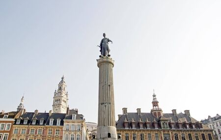gaulle: The Column of the Goddess Lille North France. Place de Gaulle France Lille