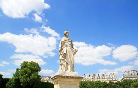 Comedy statue of Toussaint J Roux 18361880, the Tuileries Paris France Editorial