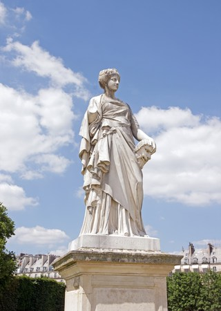 tragedies: Comedy statue of Toussaint J Roux 18361880, the Tuileries Paris France Editorial