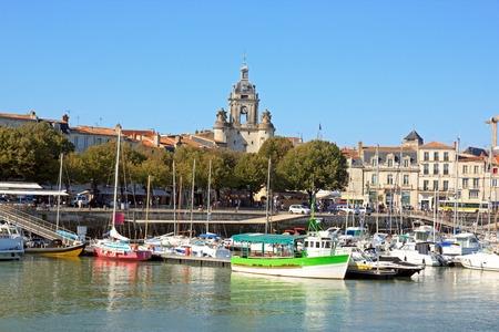 Le Gros Horloge de La Rochelle, vue sur la mer Charente Maritime France