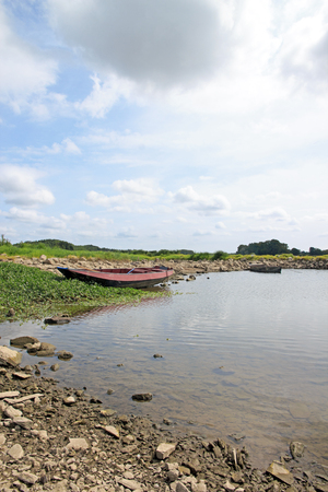 paysage de Bouchemaine, La Pointe, confluence de la Maine et Loire France