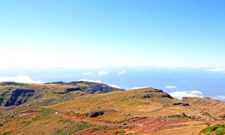 route typique Pico Ruivo Madeira (Portugal). Une région de randonnée de Madère