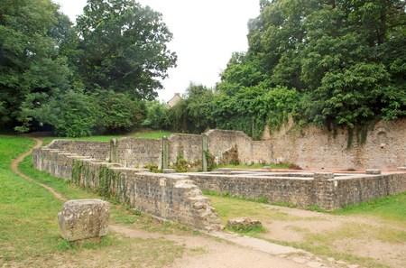 Douarnenez, sentier Plomarc'h, le salage des chars datant de l'époque gallo-romaine (antique) (Finistère, Bretagne, France)
