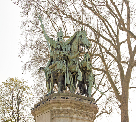Statue of Charlemagne and his lords (Paris, France)