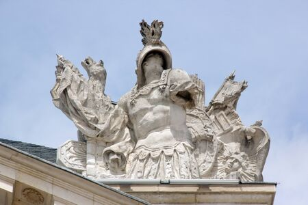 Warrior, statue placed at the top of the Palace of the Dukes (Dijon, Burgundy, France)