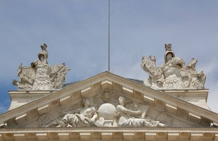 The top of the Palace of the Dukes (Dijon, Burgundy, France)
