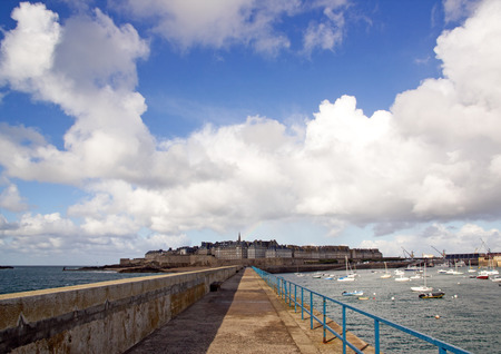 St Malo, a view of the city between light and shadow (Brittany France)