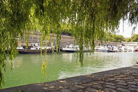 The port of the Arsenal, near the Bastille (Paris France) Editorial