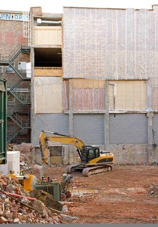 Travail en cours. Destruction et reconstruction d'une maison (Gand Belgique) Banque d'images