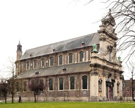 L'église du petit couvent Beguine Notre-Dame ter Hoyen (Gand Belgique). Banque d'images