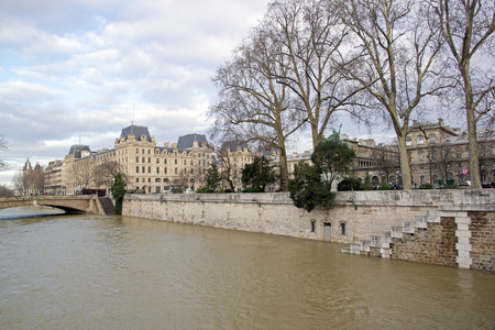 Floods of the Seine, Paris (France). Winter, 2018