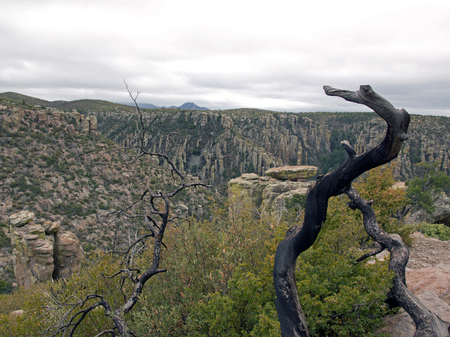 The park of Chiricahua, one day of bad weather - Arizona-