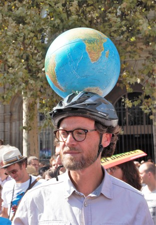 Walking for the climate - Up for the climate. Ecological demonstration. Paris France Saturday, September 08th, 2018.