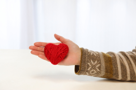 Yarn heart gift images