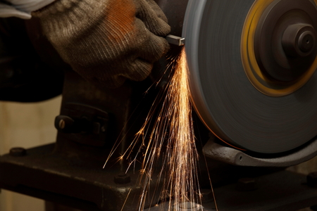 cutting: Grinder at the town factory