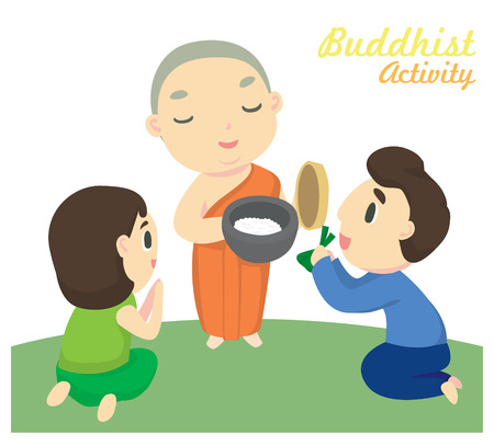 Giving alms one of the Buddhist activity