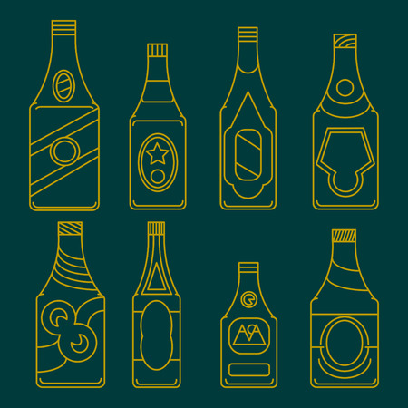 Beer bottles collection.