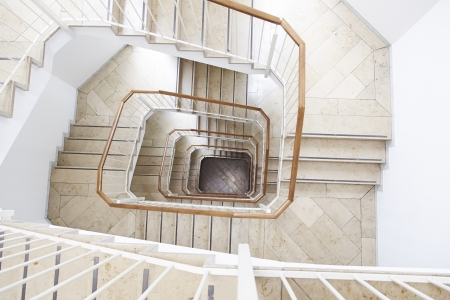 Stairs inside an office building