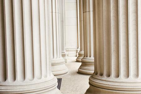 Row of marble columns  photo