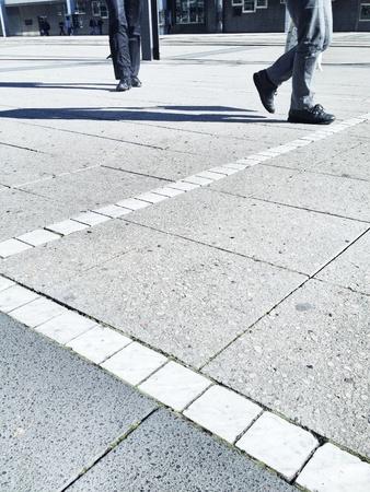 People walking in city Stok Fotoğraf